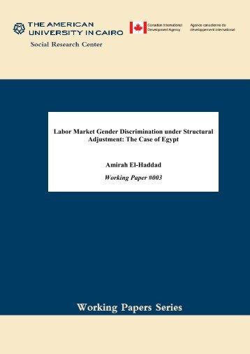 Labor Market Gender Discrimination under Structural Adjustment ...