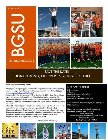 Cheer Newsletter_Volume 1, Issue 2 - BGSU Alumni
