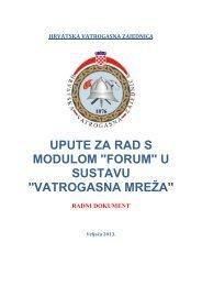 UPUTE ZA RAD S MODULOM ''FORUM'' U SUSTAVU ...