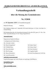 Verhandlungsschrift - Breitenau am Hochlantsch