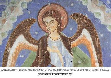 GEMEINDEBRIEF SEPTEMBER 2011 - St. Wolfgang Schneeberg