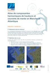 Fiche descriptive des atlas de composantes harmoniques - Previmer
