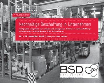 Nachhaltige Beschaffung in Unternehmen - Sanu