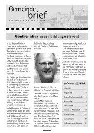 Gemeindebrief November 2007 - Kirchenbezirk Geislingen