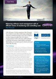 Balancing software asset management with an efficient ... - Softcat