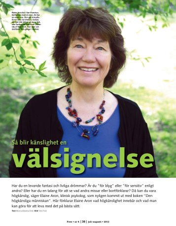 Så blir högkänsliget en välsignelse - Sveriges förening för högkänsliga