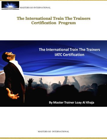 The International Train The Trainers Certification Program - Masters ...