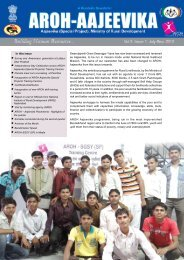 SGSY - July to Sep 2012 - Aroh Foundation