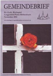 Im Schatten des Todes blüht das Leben - Kirchspiel Lengenfeld ...