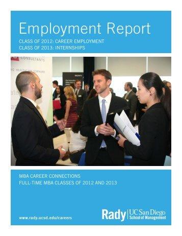 2012 Employment Report - Rady School of Management - UC San ...