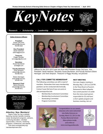KeyNotes - School of Nursing - Purdue University