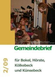 Ausgabe 2/09 - Ev.-Luth. Kirchengemeinde Halle Westfalen