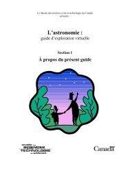 L'astronomie - Musée des sciences et de la technologie du Canada