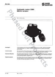 OMN orbital motor Service Manual - Sauer-Danfoss