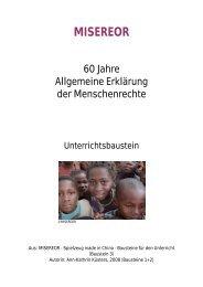 Misereor (Hg.): 60 Jahre Allgemeine Erklärung der Menschenrechte ...
