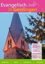 Kirchen in der Oberen Stadt und im Seebach - Kirchenbezirk ...