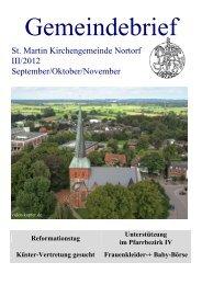 17.00 Uhr im Markushaus - Kirchengemeinde Nortorf