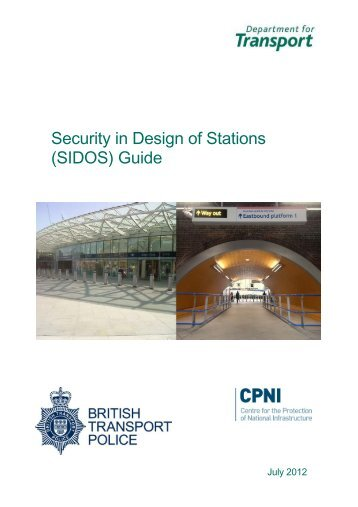 Security in Design of Stations (SIDOS) Guide - CPNI