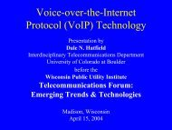 Voice-over-the-Internet Protocol (VoIP) - Wisconsin Public Utility ...