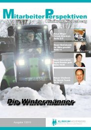 Die Wintermänner - Klinikum Niederberg