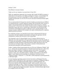 Joint Response to the letter from the Minister - Canadian Friends ...