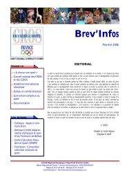 Brev'Infos - CROS de Poitou-Charentes - Comité National ...