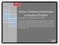Status of Maternal Mortality in Madhya Pradesh - Media and Rights