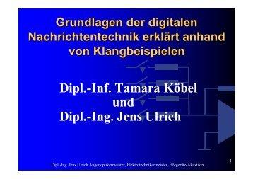 Dipl.-Inf. Tamara Köbel und Dipl.-Ing. Jens Ulrich - bei Ulrich-Ffm.de