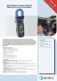 MD 9225 Most Complete Industrial TRMS AC/DC Current ... - Metrel