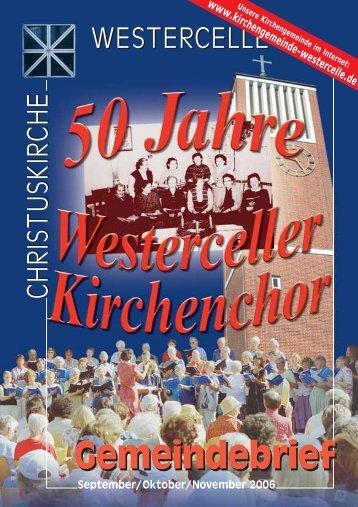 Ausgabe 2006: Sept / Okt / Nov - Kirchengemeinde Westercelle