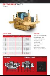 pipe carriers spc-d70 pipe carriers spc d70 - Worldwide Machinery