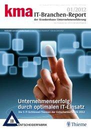 IT-Branchen-Report der Krankenhaus ... - kma Online
