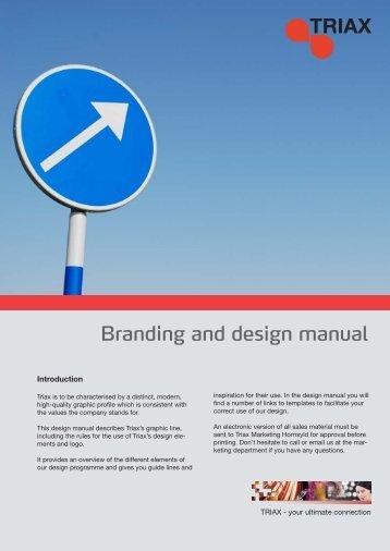 Branding and design manual - Triax