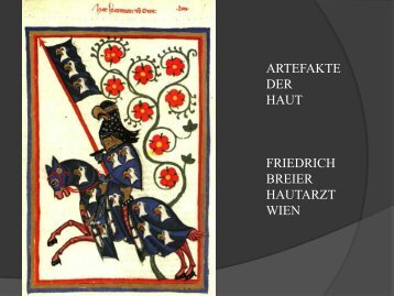 ARTEFAKTE DER HAUT FRIEDRICH BREIER HAUTARZT WIEN