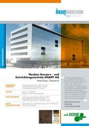 und Entwicklungszentrale KNAPP AG - Knauf Insulation