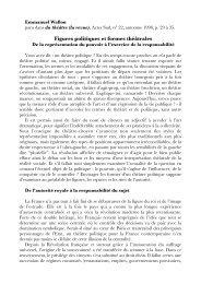 Figures politiques et formes théâtrales - ReprésentationS