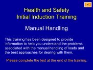 Health and Safety Initial Induction Training Manual Handling