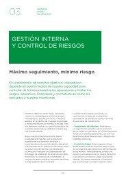 GestIón InternA Y Control de rIesGos - Informe Anual 2011 - Sanitas