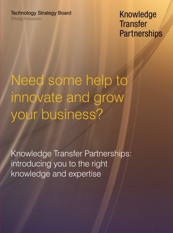 Need some help to innovate and grow your business? - Knowledge ...