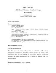 Minutes - Expert Group on Clean Fossil Energy