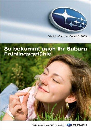 Kindersitze, Leichtmetallfelgen - Subaru
