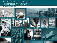 Financial Guaranty Insurance Company Fixed Income Presentation
