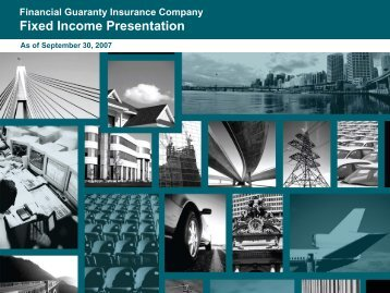 Financial Guaranty Insurance Company Fixed Income Presentation