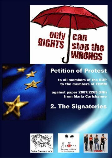 Sexworker Protest 2. Signatories - KoopKoMa