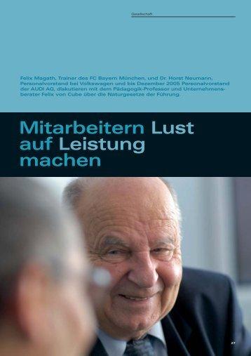 Felix Magath, Dr. Horst Neumann