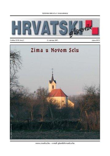 2. broj 11. siječnja 2007. - Croatica Kht.