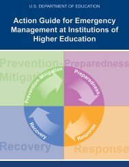 Action Guide for Emergency Management at Institutions of Higher ...