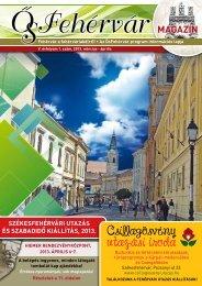 március-áprilisi - ŐsFehérvár Városkártya Portál