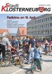 Amtsblatt Nr. 3/2009 - Stadtgemeinde Klosterneuburg