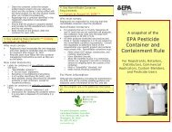Snapshot of New Pesticide Container Regulations